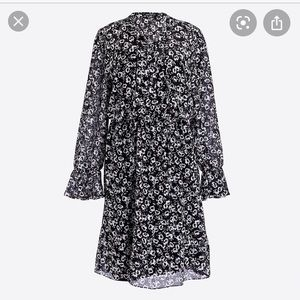 J.Crew black and white floral dress